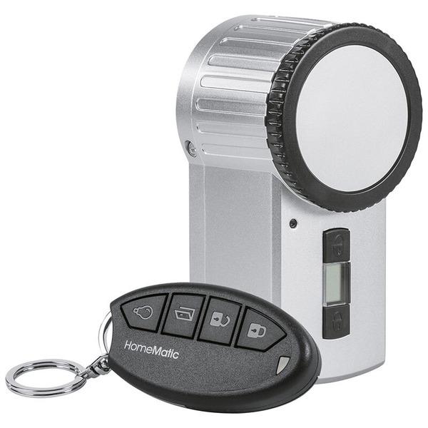 Homematic Funk-Türschlossantrieb KeyMatic, silber inkl. Funk-Handsender HM-Sec-Key-S