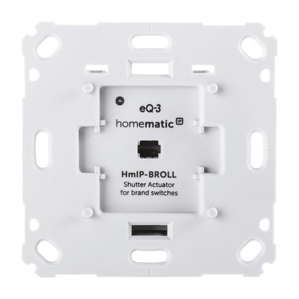 Homematic IP Rollladenaktor HmIP-BROLL für Markenschalter, auch für Markisenmotoren geeignet