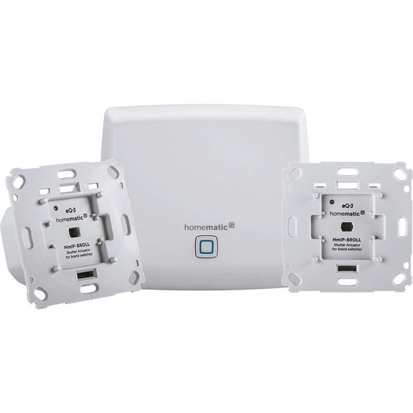 Homematic IP Starter-Set Beschattung mit Access Point und 2 Rollladenaktoren für Markenschalter