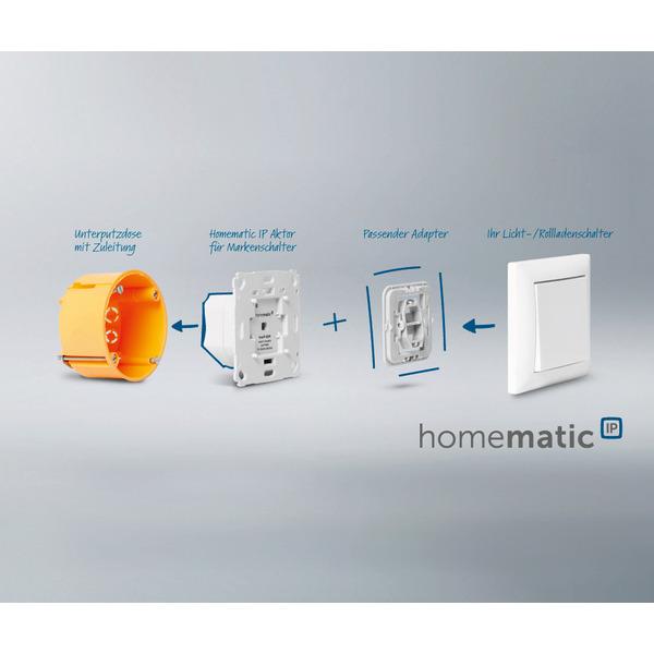 ELV Homematic IP ARR-Bausatz Unterputz-Schalt-Mess-Aktor für Markenschalter HmIP-BSM