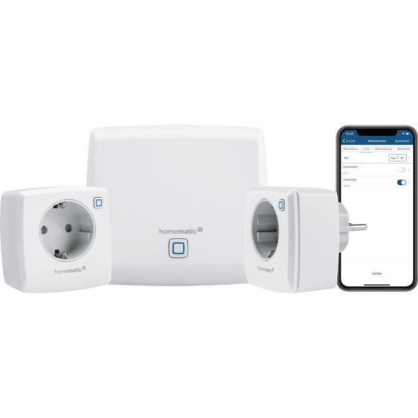 Homematic IP Starter-Set Licht mit Access-Point und 2 dimmbaren Schaltsteckdosen