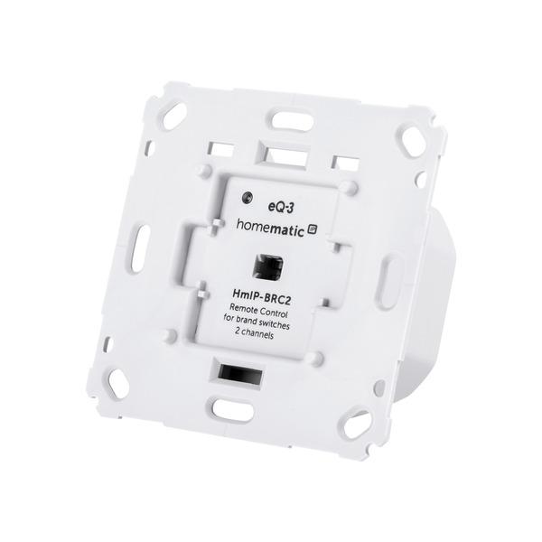 Homematic IP Komplettbausatz Wandtaster für Markenschalter 2fach HmIP-BRC2, für Smart Home / Hausaut