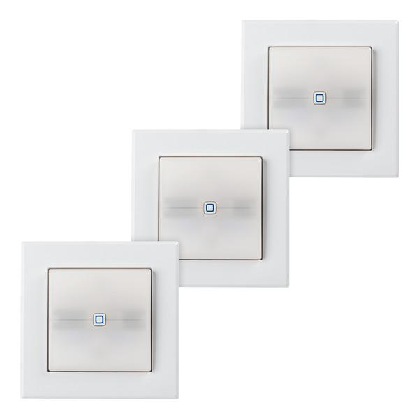 3er Set Homematic IP Schaltaktor für Markenschalter mit Signalleuchte HmIP-BSL
