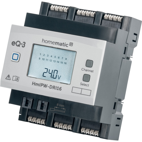 Homematic IP Wired 16-fach-Eingangsmodul HmIPW-P-DRI16