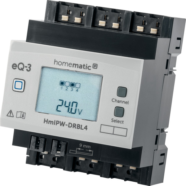 Homematic IP Wired 4-fach-Jalousie-/Rollladenaktor HmIPW-DRBL4, VDE zertifiziert