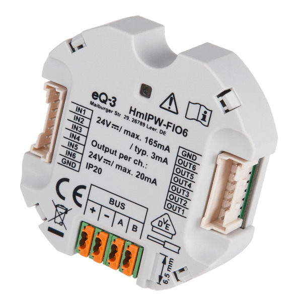 Homematic IP Wired 6-fach-Unterputz-IO-Modul HmIPW-FIO6, VDE zertifiziert