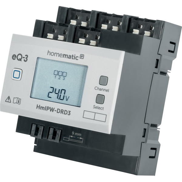 Homematic IP Wired 3-fach-Dimmaktor HmIPW-DRD3, VDE zertifiziert
