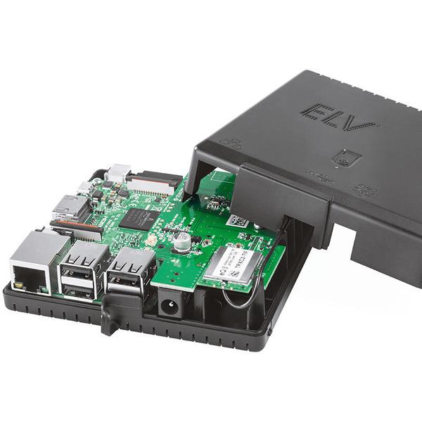 ELV Komplettbausatz Gehäuse RP-Case für Raspberry Pi und RPI-RF-MOD Funk-Modulplatine, schwarz