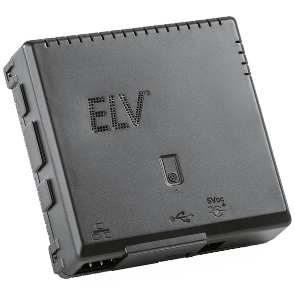 ELV Gehäuse RP-Case für Raspberry Pi und RPI-RF-MOD Funk-Modulplatine, schwarz, Komplettbausatz