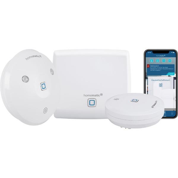 Homematic IP Starter-Set Wasseralarm mit Access Point, Wassersensor und Alarmsirene