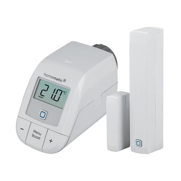 Starter Set Heizen mit Smart Home Zentrale CCU3 und Set easy connect (Heizkörperthermostat und Fenst