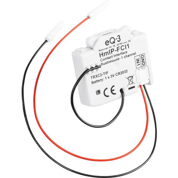 Homematic IP HmIP-FCI1 Kontakt-Schnittstelle, Unterputz, 1-fach