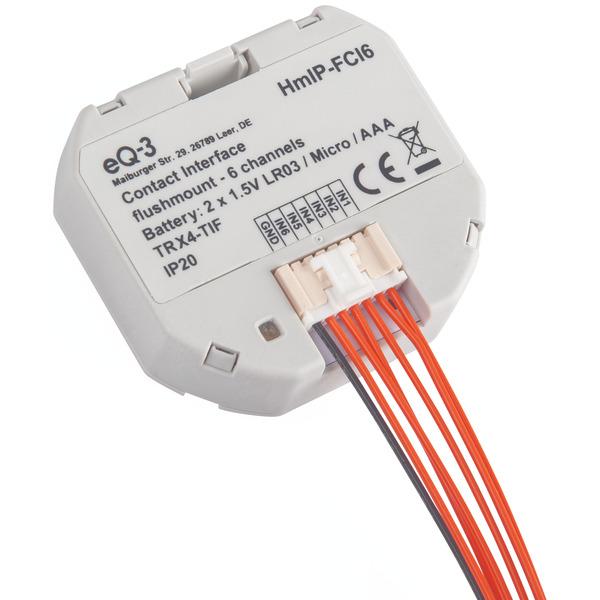 ELV Homematic IP Komplettbausatz Kontakt-Schnittstelle Unterputz - 6-fach HmIP-FCI6