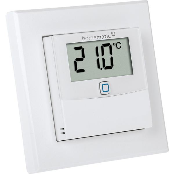 Homematic IP Wired Temperatur- und Luftfeuchtigkeitssensor mit Display HmIPW-STHD – innen