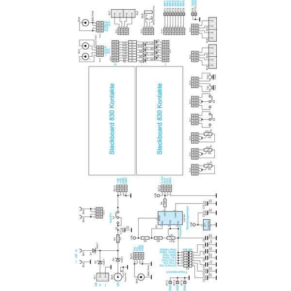 ELV Experimentier-/Steckboard EXSB1 inkl. Gehäuse, Bausatz