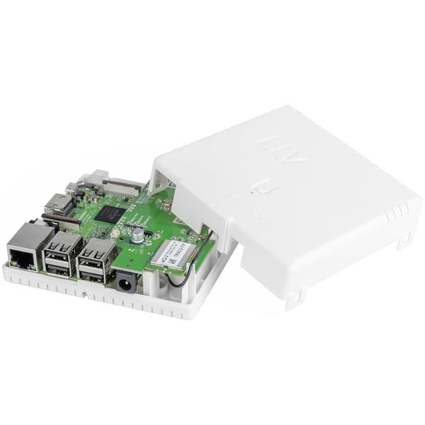 ELV Gehäuse RP-Case für Raspberry Pi und RPI-RF-MOD Funk-Modulplatine, weiß, Komplettbausatz