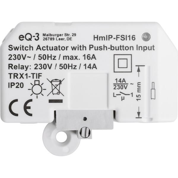 Homematic IP Schaltaktor mit Tastereingang (16 A) HmIP-FSI16, Unterputz