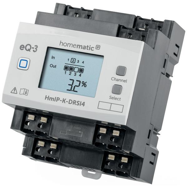Homematic IP Komplettbausatz Schaltaktor für Hutschienenmontage 4-fach HmIP-K-DRSI4