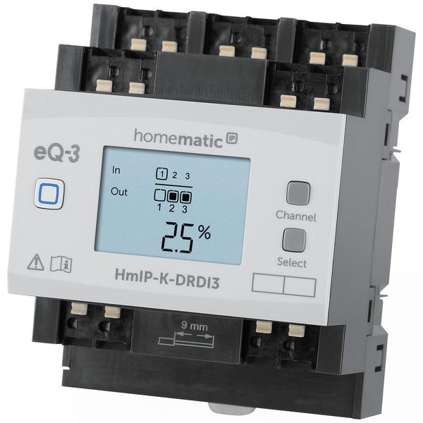 ELV Homematic IP Komplettbausatz 3-fach-Dimmaktor für Hutschienenmontage HmIP-K-DRDI3