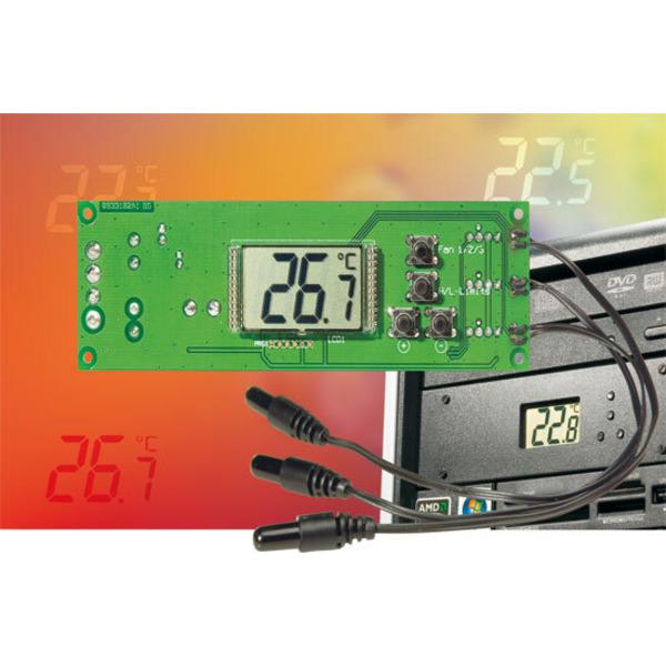 Intelligente 3-Kanal-Temperaturregelung PLS 100 für PWM-Lüfter