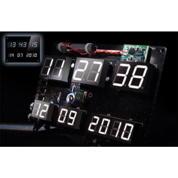 Flexibel - LED-Uhr DCF-7SEG mit Zeit- und Datumsanzeige Teil 1/2
