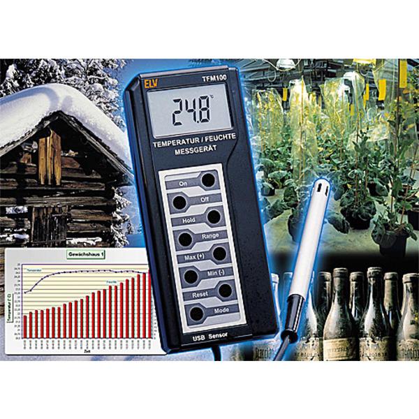 USB-Temperatur-Feuchte-Messgerät TFM100 Teil 1/2