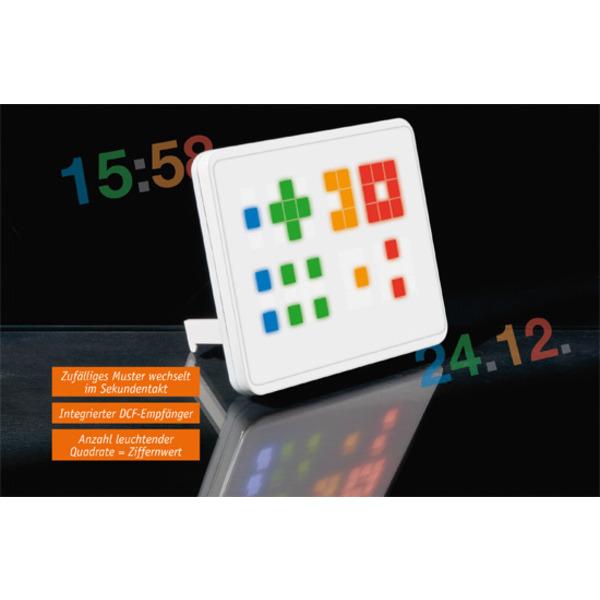 Cooles Design, einfach abzulesen – Binär-Funkuhr BU2 mit LED-Großanzeige