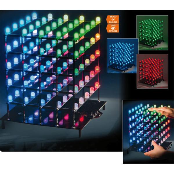Licht dreidimensional – 5x5x5-RGB-Cube RGBC555 Teil 2/2