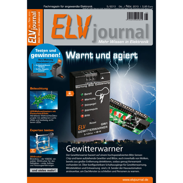 ELVjournal Ausgabe 5/2013 Digital (PDF)