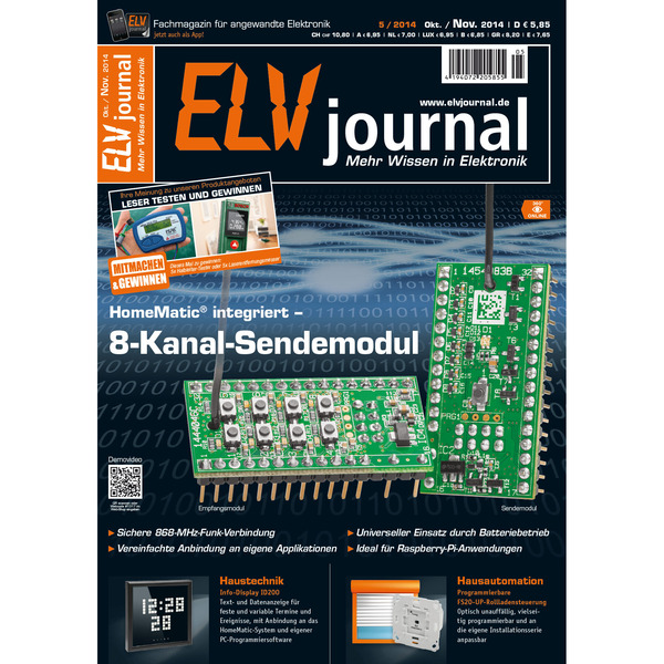 ELVjournal Ausgabe 5/2014 Digital (PDF)