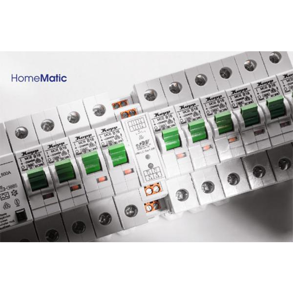 Homematic®-1-Kanal-Schaltaktor im Hutschienengehäuse