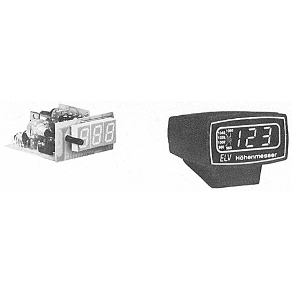 ELV-Serie Kfz-Elektronik: Digitaler Kfz-Höhenmesser