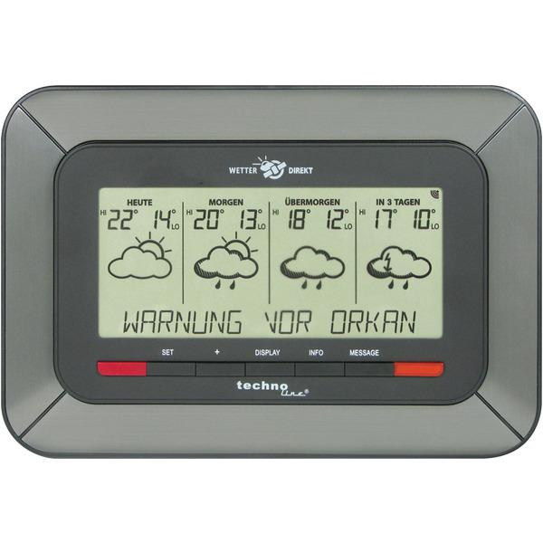 technoline WETTERdirekt Vorhersage-Station WD 4920, Vorhersage 4 Tage, Unwetterwarnung