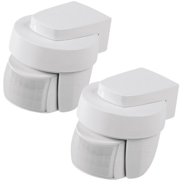 Homematic IP 2er Set Homematic IP Bewegungsmelder HmIP-SMO mit Dämmerungssensor – außen, weiß