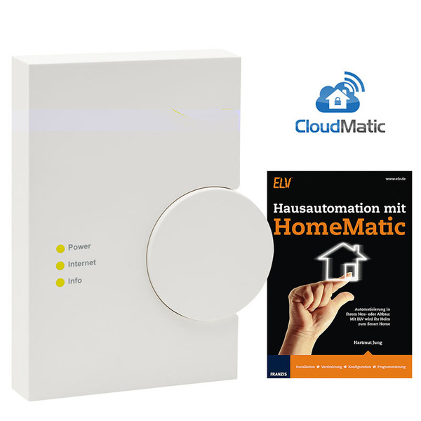 Homematic Spar-Set: ARR-Bausatz Zentrale CCU2 inkl. 12 Monate CloudMatic connect + FRANZIS Buch Haus