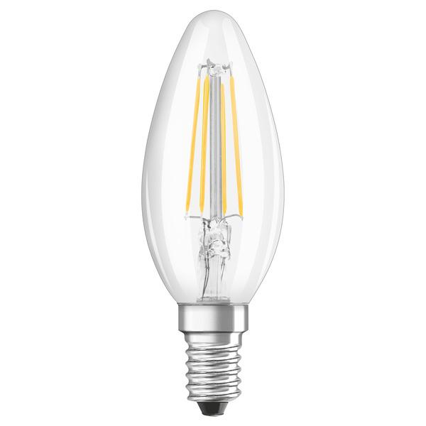 OSRAM LED STAR Plus 4-W-LED-Kerzenlampe E14, warmweiß, dimmbar per Lichtschalter
