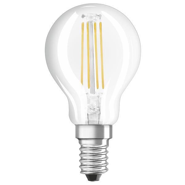 OSRAM LED STAR Plus 4-W-LED-Tropfenlampe E14, warmweiß, Lichtfarbe schaltbar
