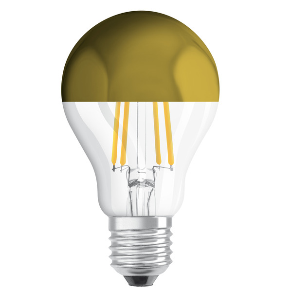 OSRAM LED Mirror Gold 7-W-Filament-LED-Lampe E27 mit Goldkuppe