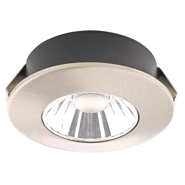 Civilight 4-W-LED-Downlight, warmweiß, 36°, Nickel