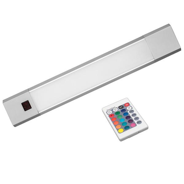 OSRAM Linear 4-W-RGBW-LED-Unterbauleuchte, 30 cm, mit IR-Fernbedienung, RGB und warmweiß, dimmbar