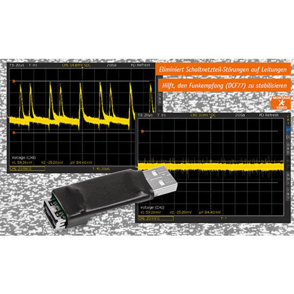 USB-Entstörfilter - Störungsfreie Nutzung von Schaltnetzteilen