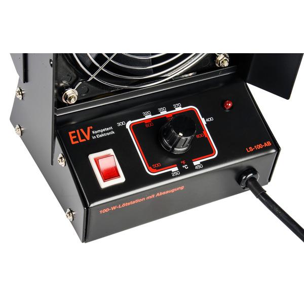 ELV Lötstation LS-100-AB, mit Absaugung, 100 W