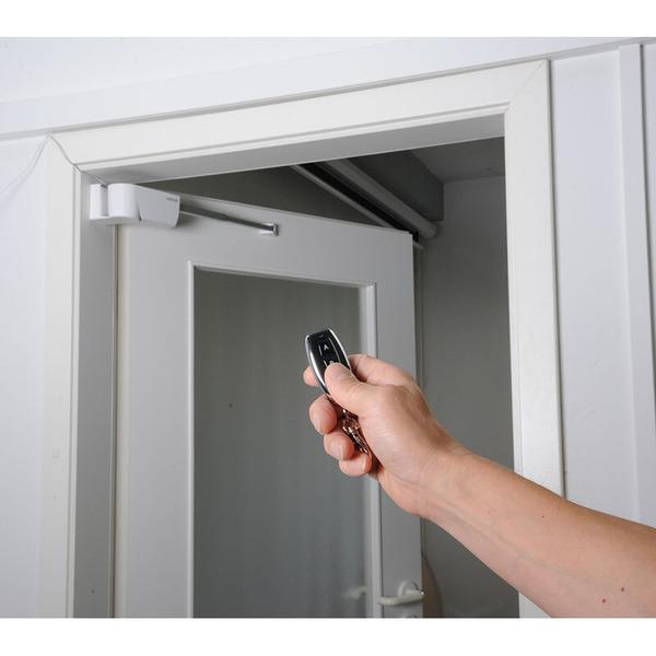 Elektronischer Funk-Türantrieb für Innentüren, mit Funk-Handsender, für Rechts-Anschlag