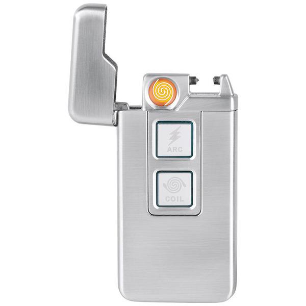 ELV Lichtbogen-Sturmfeuerzeug LF200, zündet mit Lichtbogen oder Glühfaden, Metallgehäuse