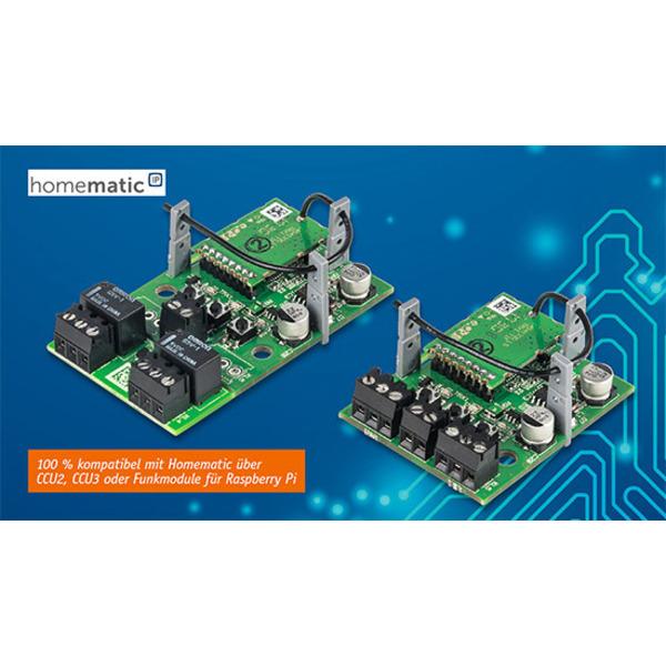 Homematic IP Schaltplatine 2fach - Universeller 2-Kanal-Aktor für Kleinspannung