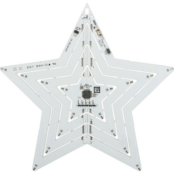 3D-Lichtskulptur - LED-Weihnachtsstern LED-WS2 mit Flackerlicht