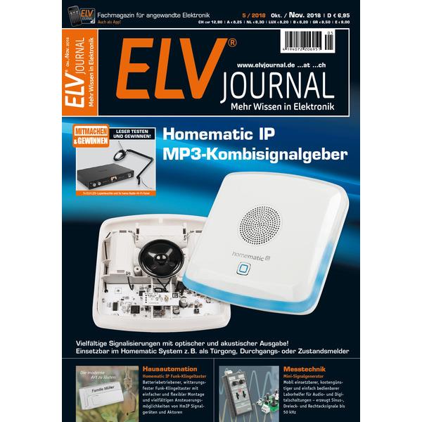 ELVjournal Ausgabe 5/2018 Digital (PDF)