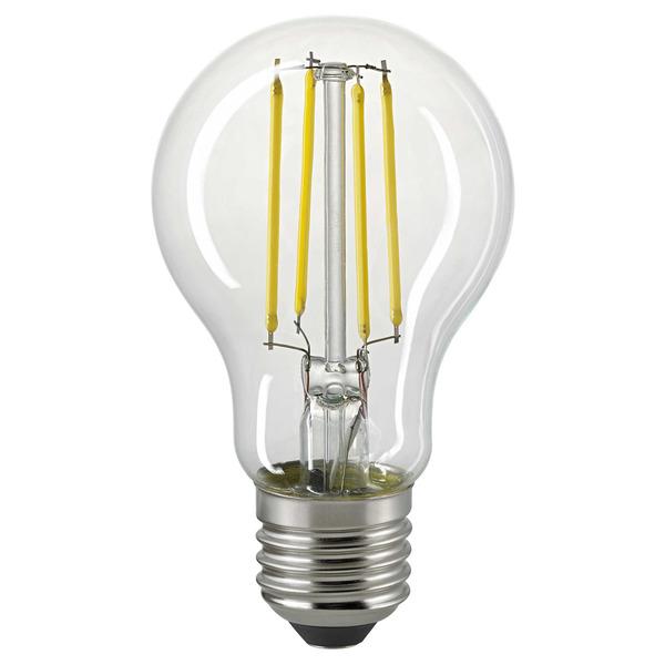 Sigor 4-W-Filament-LED-Lampe E27 mit Tageslichtsensor, warmweiß, klar, 470 lm