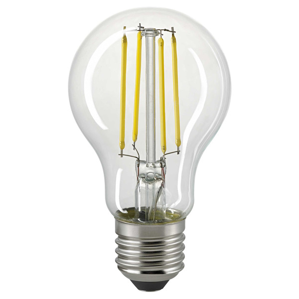 Sigor 6,5-W-Filament-LED-Lampe E27 mit Tageslichtsensor, warmweiß, klar, 806 lm