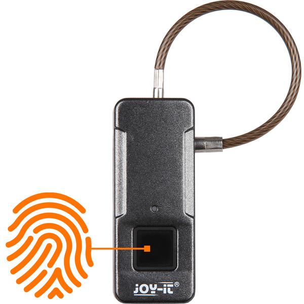 JOY-iT Kabelschloss Joy-Lock I, mit Fingerabdrucksensor, 10 Fingerabdrücke anlernbar, Akku, IP65